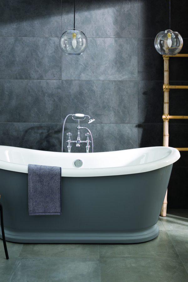 Alexander Traditional Style Dark Grey Freestanding Bath