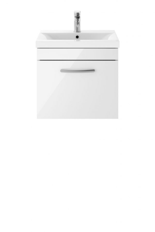 Athens 500mm Wall Hung – Single Drawer Unit – White