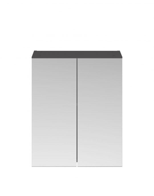 Athens 600mm Mirror – Dark Grey Gloss