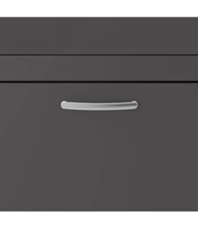 Athens 800mm Wall Hung – Single Drawer Unit – Dark Grey Gloss