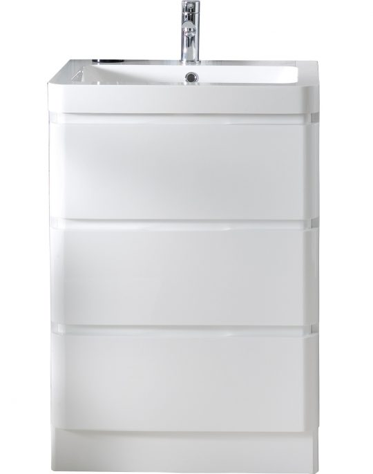 600mm Floor Standing Cabinet Only – Gloss White
