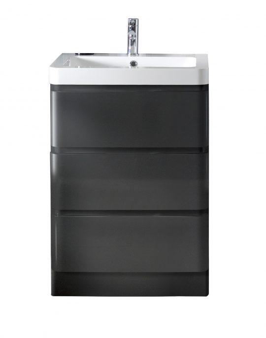 600mm Floor Standing Cabinet Only – Gloss Mocha