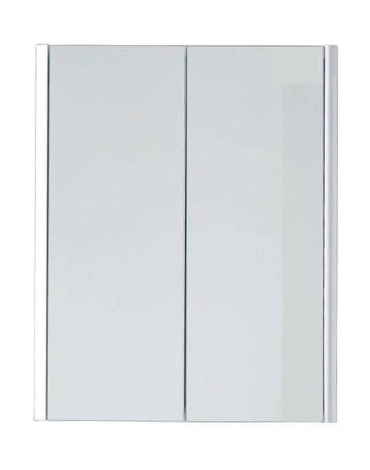 600mm Mirrored Cabinet – Gloss White