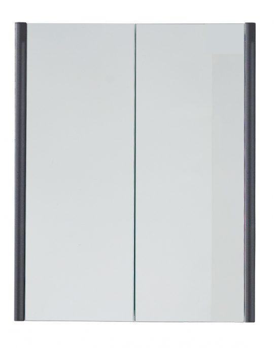 600mm Mirrored Cabinet – Gloss Mocha