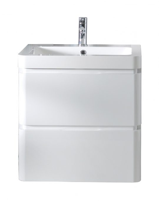 600mm Wall Hung Cabinet Only – Gloss White