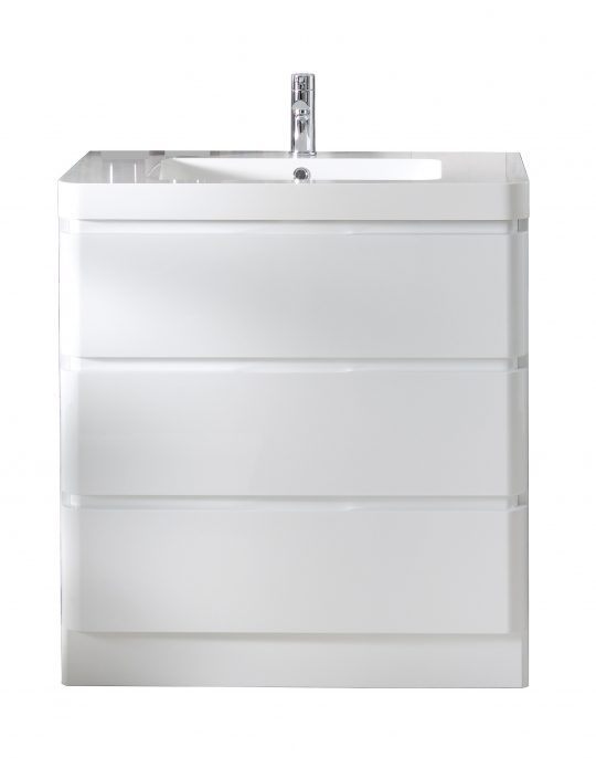 800mm Floor Standing Cabinet Only – Gloss White