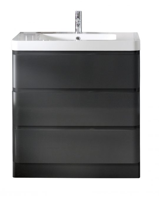 800mm Floor Standing Cabinet Only – Gloss Mocha