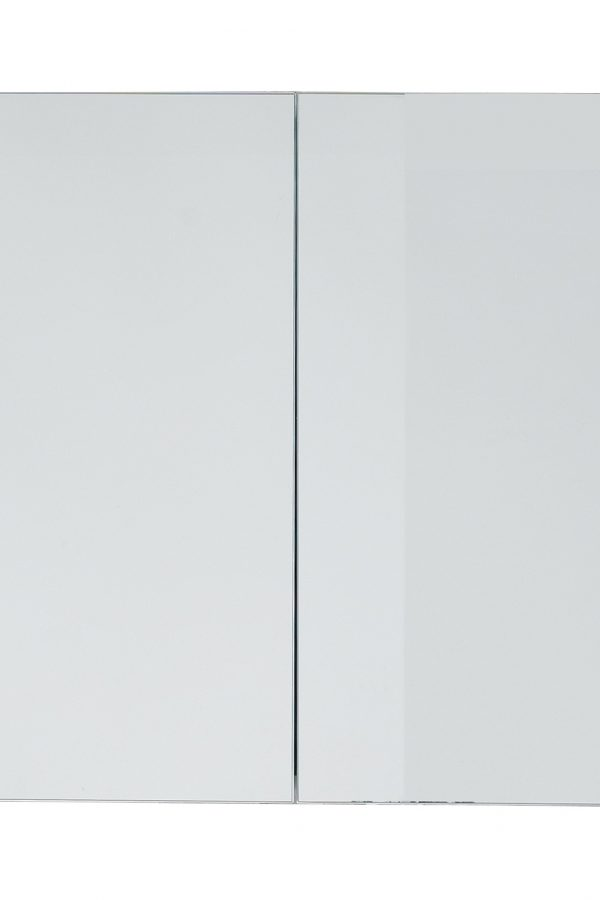 800mm Mirrored Cabinet – Gloss White