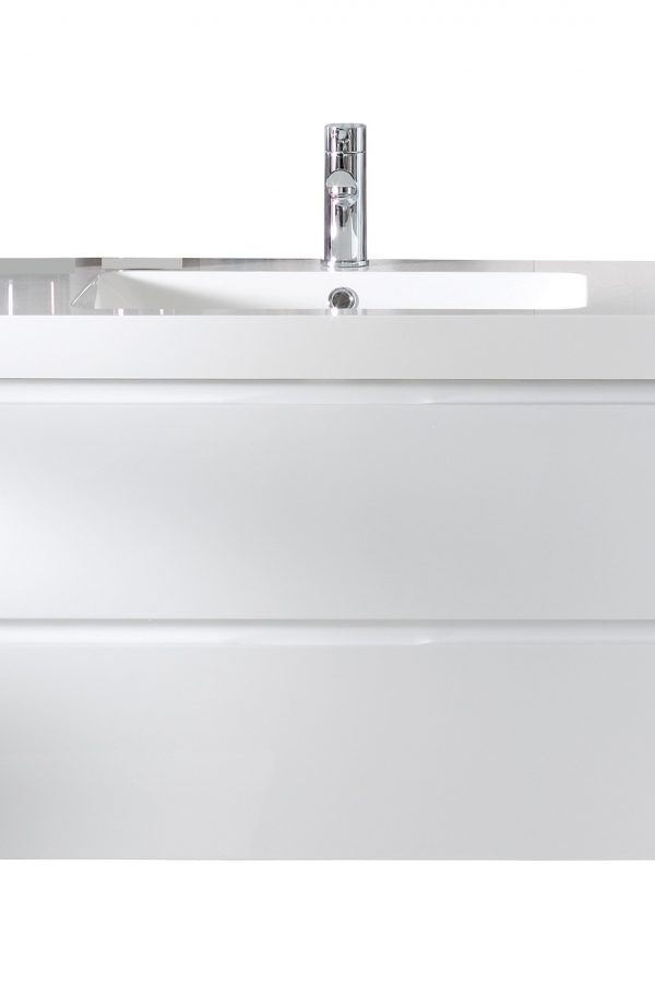 800mm Wall Hung Cabinet Only – Gloss White