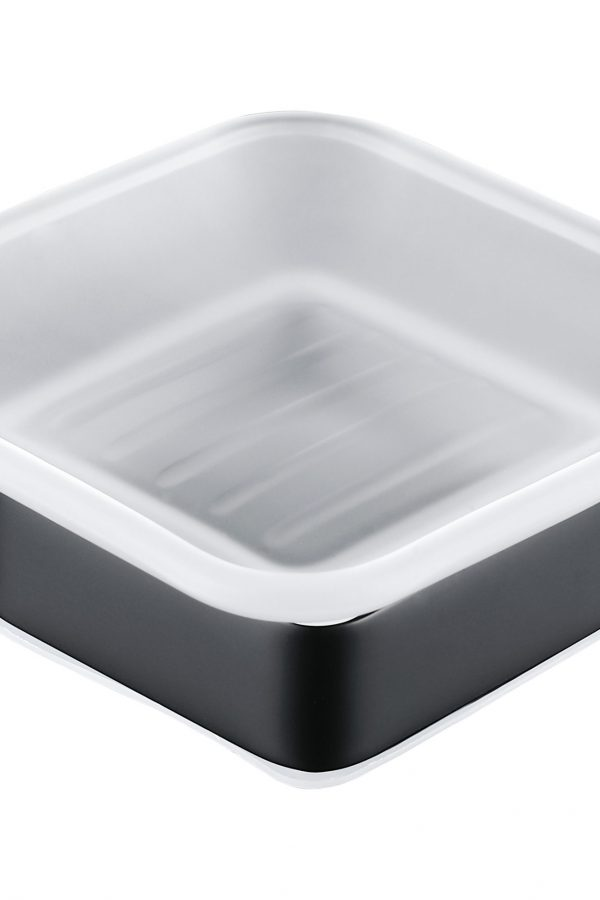 Sorento Black Soap Dish & Holder