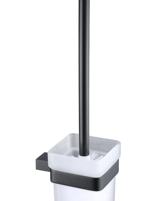 Sorento Black Toilet Brush & holder