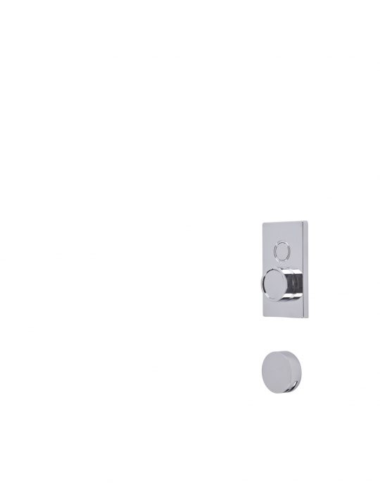 Axiom Single Function Push Button Concealed Shower System with Bath Filler