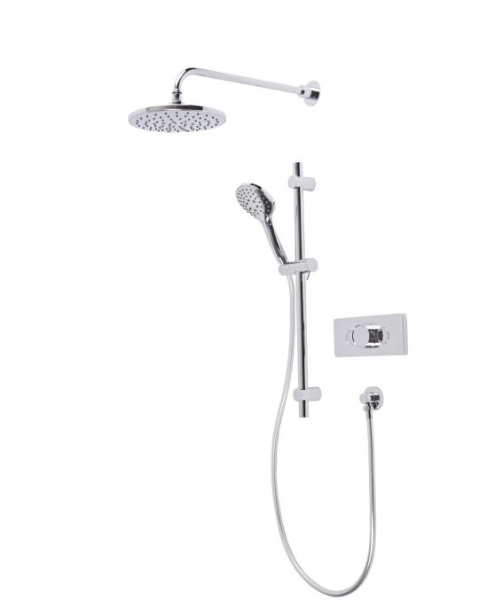 Axiom Dual Function Push Button Concealed Shower System with Riser Kit