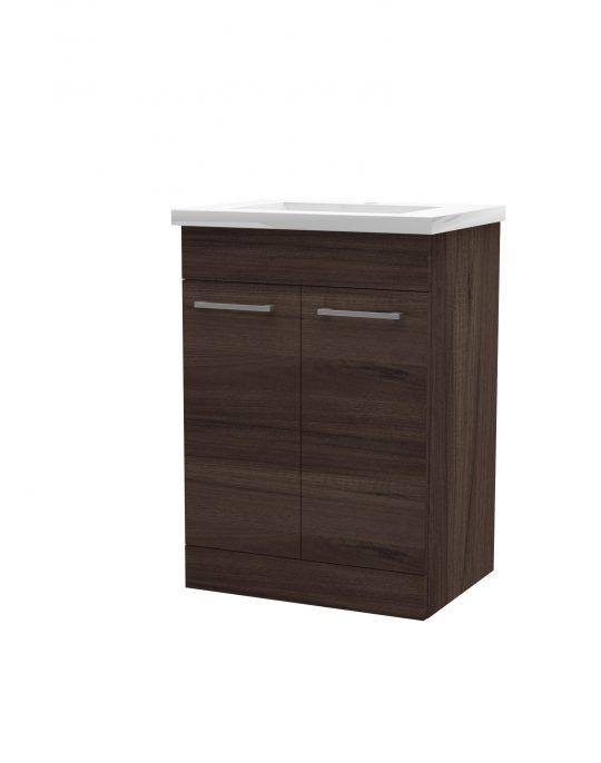 600mm Floor Standing Cabinet Only – Walnut