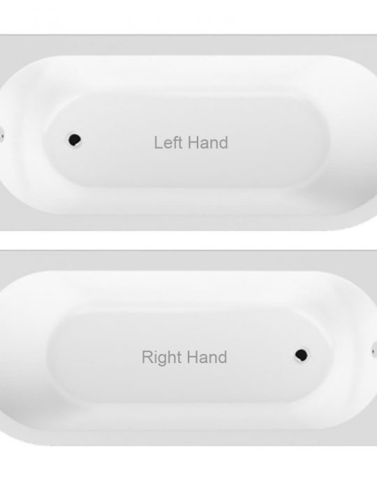 J Shaped 1700 x 750 Left Hand Bath Only