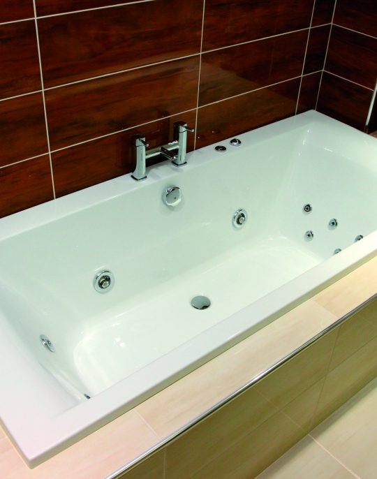 Rosa 1900 x 900 Double Ended Bath Only Including 11 Jet Whirlpool