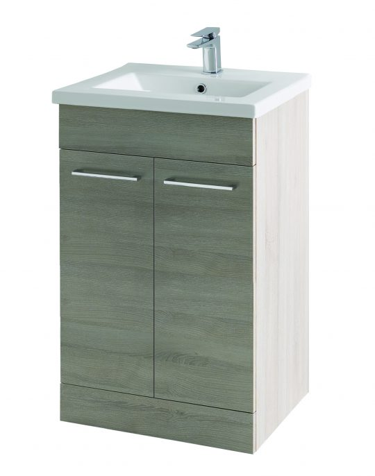 500mm Floor Standing Cabinet Only – Grey Molina