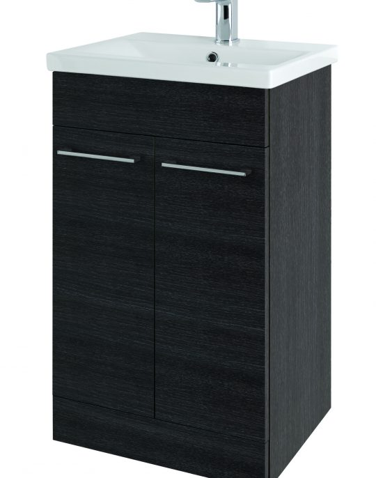 500mm Barca Floor Standing Shadow Black (Unit Only)