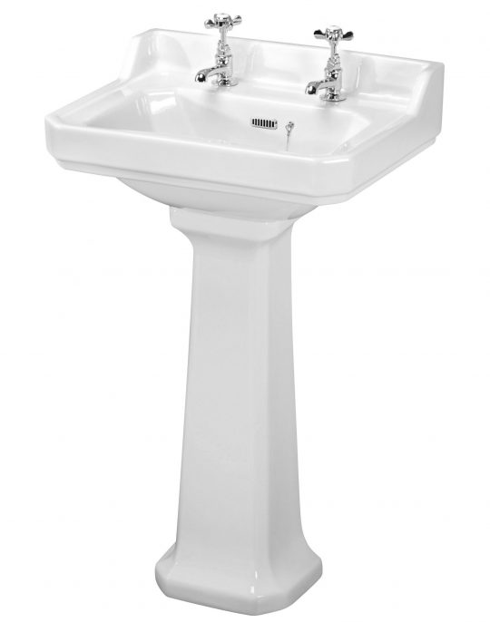 Beauford 580mm 2 Tap Hole Basin Only