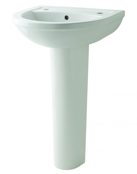 Kosmo 550mm 2 Tap Hole basin Only