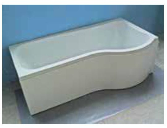 1675 Compact Shower Bath  Right Hand Bath Only