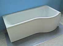 1675 Compact Shower Bath  Left Hand Bath Kit Including Screen and Front Panel