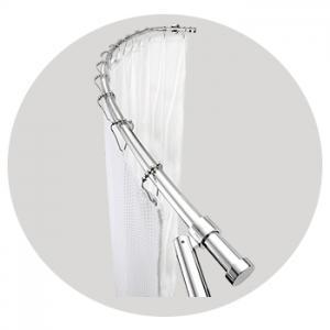 Luxury Curved Shower Curtain Rod – Chrome
