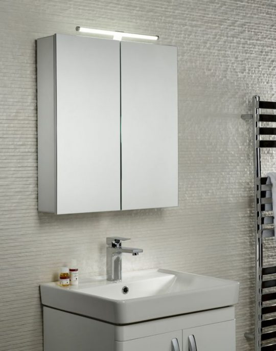 600mm Conduct Double Mirror Cabinet