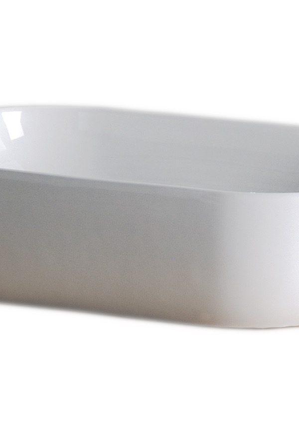 Vessel 505mm ESTANTE Soft Retangular round basin