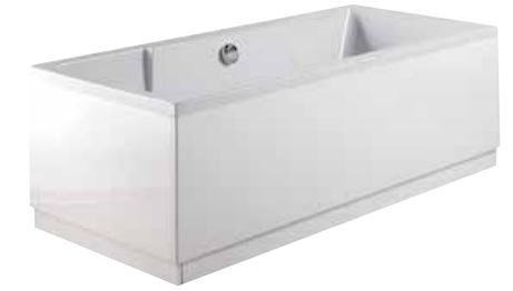 Hi Gloss Timber  900 White End Panel  – 2 Piece Only