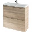 825mm 2 Drawer Unit Only – Barelino Oak