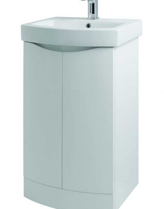500mm Floor Standing – Gloss White (Unit Only)