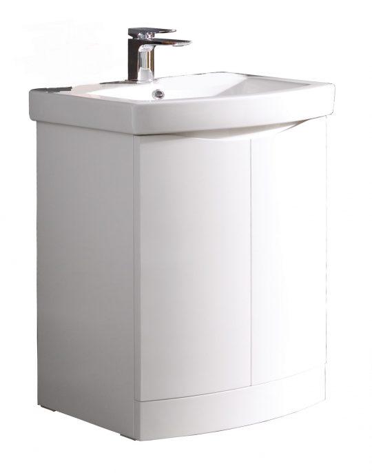 600mm Floor Standing – Gloss White (Unit Only)