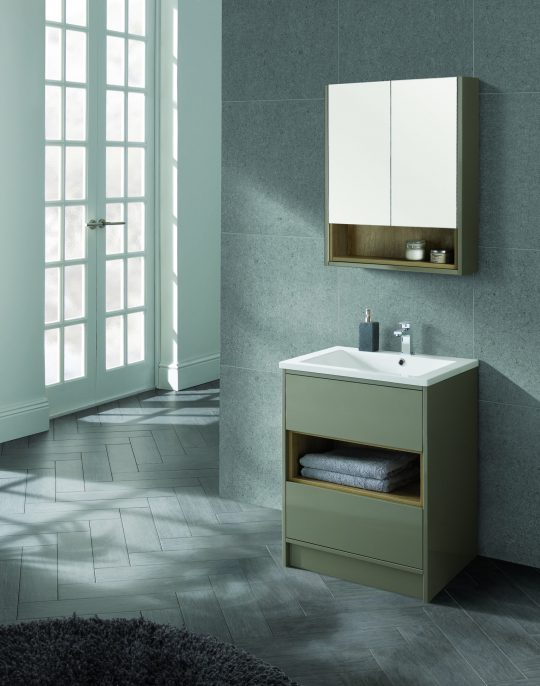 600mm Mirror Cabinet – Gloss White (Unit Only)
