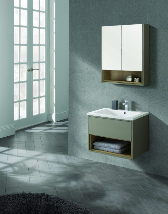 600mm Wall Hung Unit – Gloss Taupe (Unit Only)