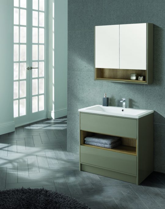 800mm Mirror Cabinet – Gloss White (Unit Only)