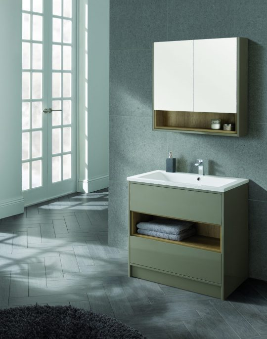 800mm Floor Standing – Gloss Taupe (Unit Only)