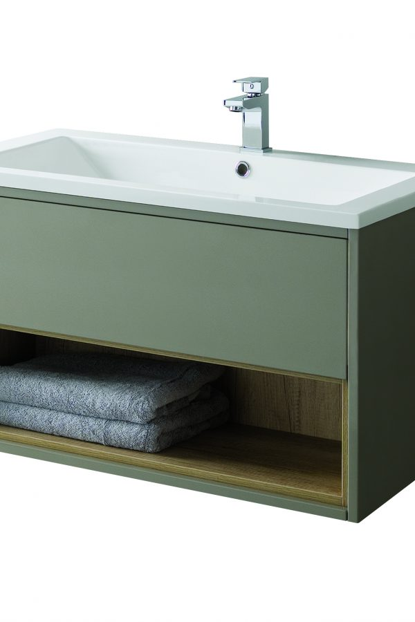800mm Wall Hung Unit – Gloss Taupe (Unit Only)