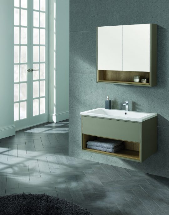 800mm Wall Hung Unit – Gloss White (Unit Only)