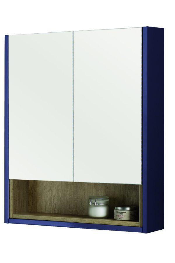 600mm Mirror Cabinet – Blue – Matt Sapphire Blue (Unit Only)
