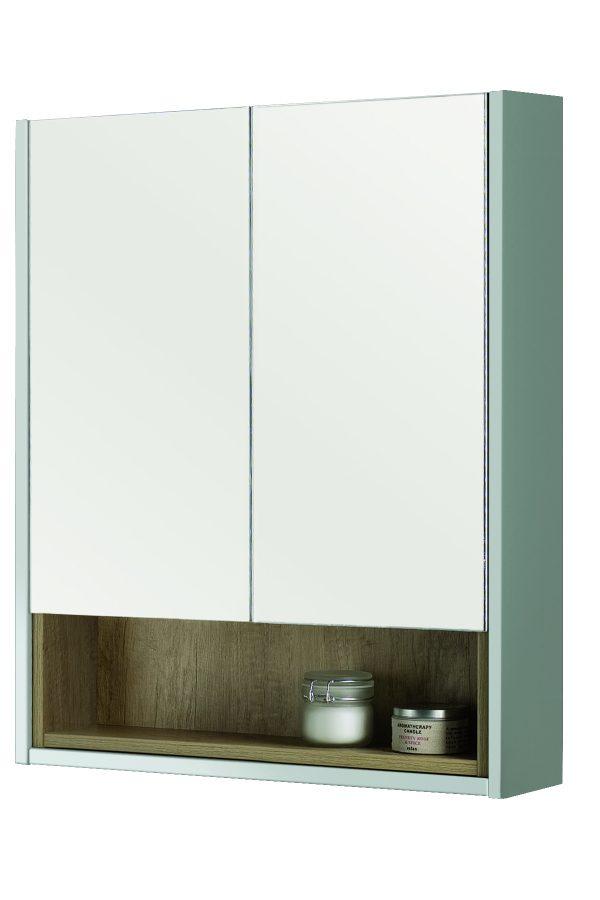600mm Mirror Cabinet – Matt Dove Grey (Unit Only)