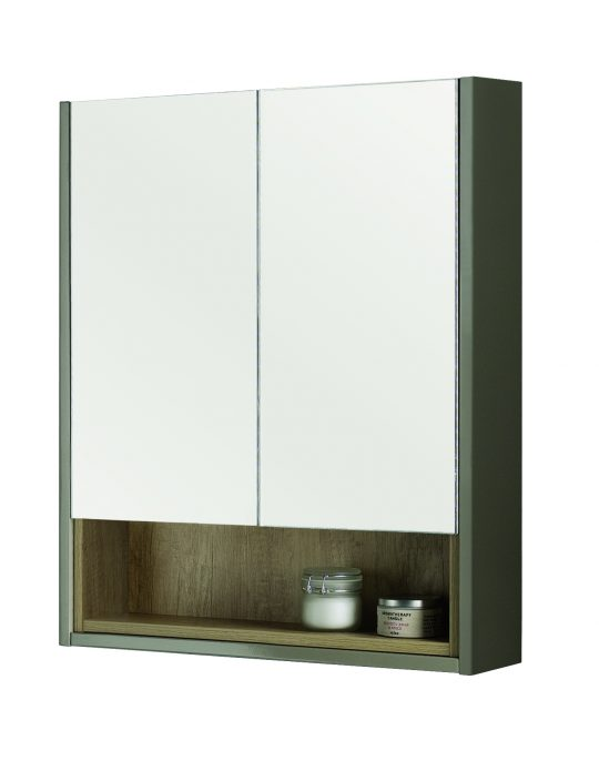 600mm Mirror Cabinet – Gloss Taupe (Unit Only)