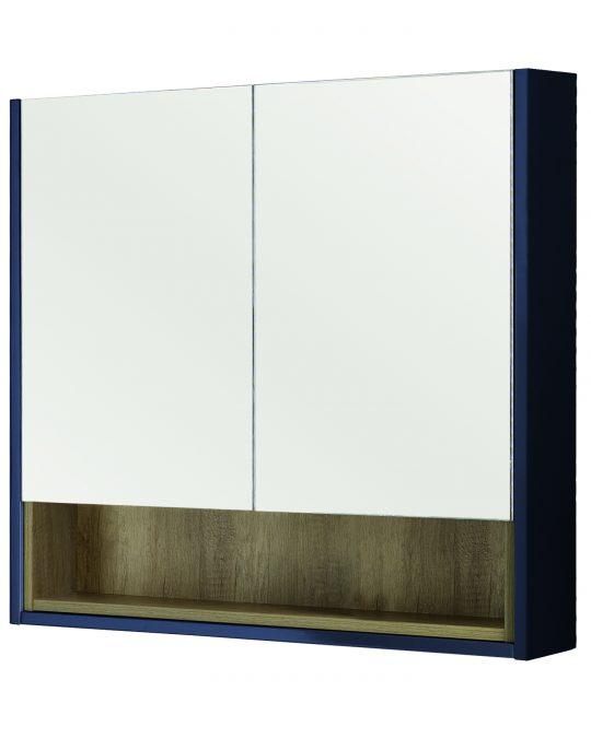 800mm Mirror Cabinet – Matt Sapphire Blue (Unit Only)