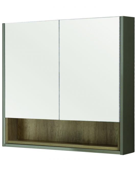 800mm Mirror Cabinet – Gloss Taupe (Unit Only)