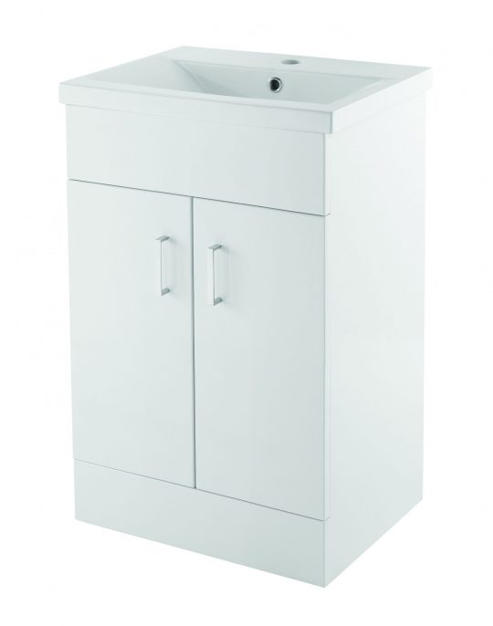 500mm Floor Mounted Unit Only – White