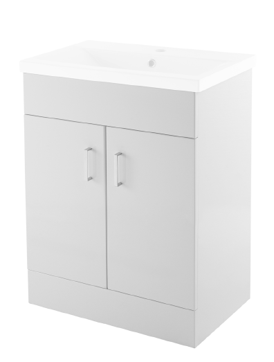 600mm Floor Mounted Unit Only – White