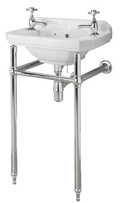Richmond Chrome Luxury Washstand Only