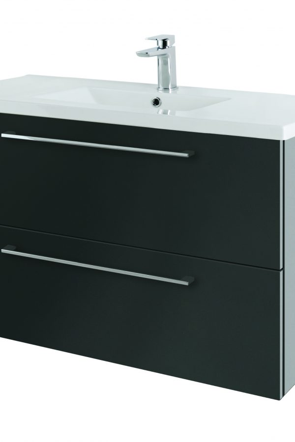 1000mm Wall Hung – Gloss Graphite (Unit Only)