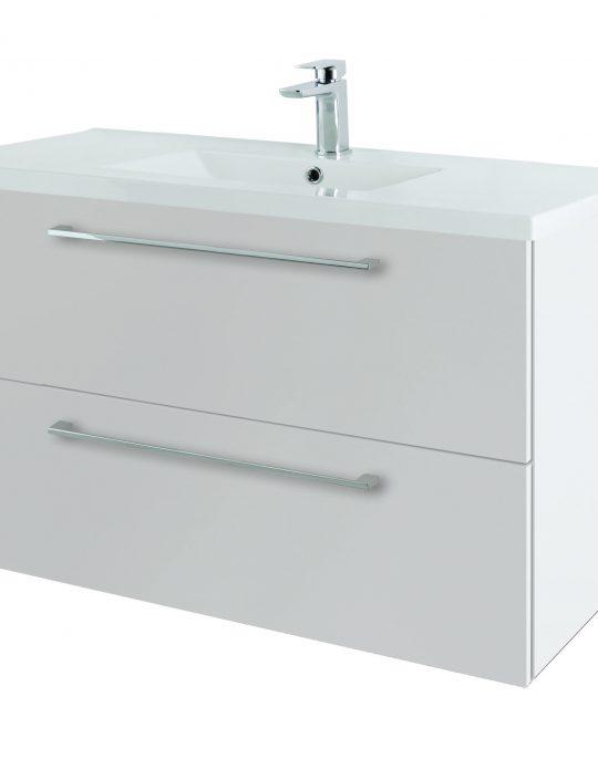 1000mm Wall Hung – Gloss White