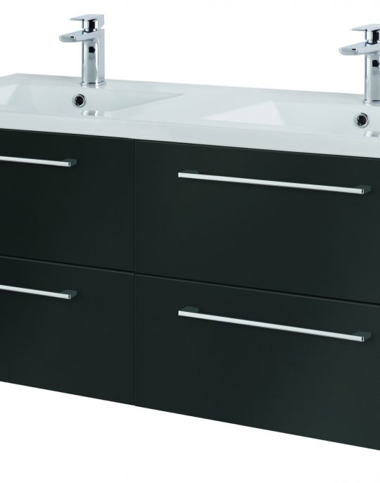 1200mm Wall Hung – Gloss Graphite (Unit Only)